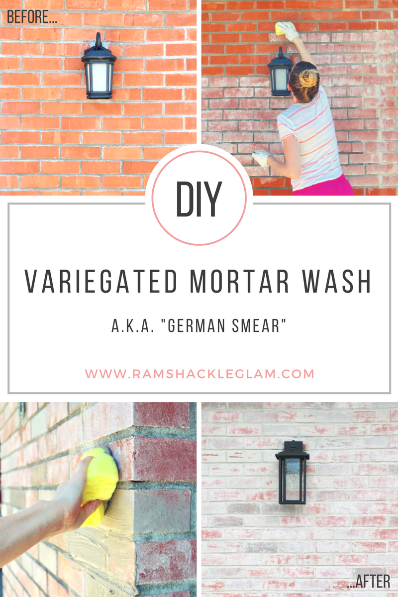 How to do a mortar wash or german smear on your ugly - How to change the color of brick exterior ...