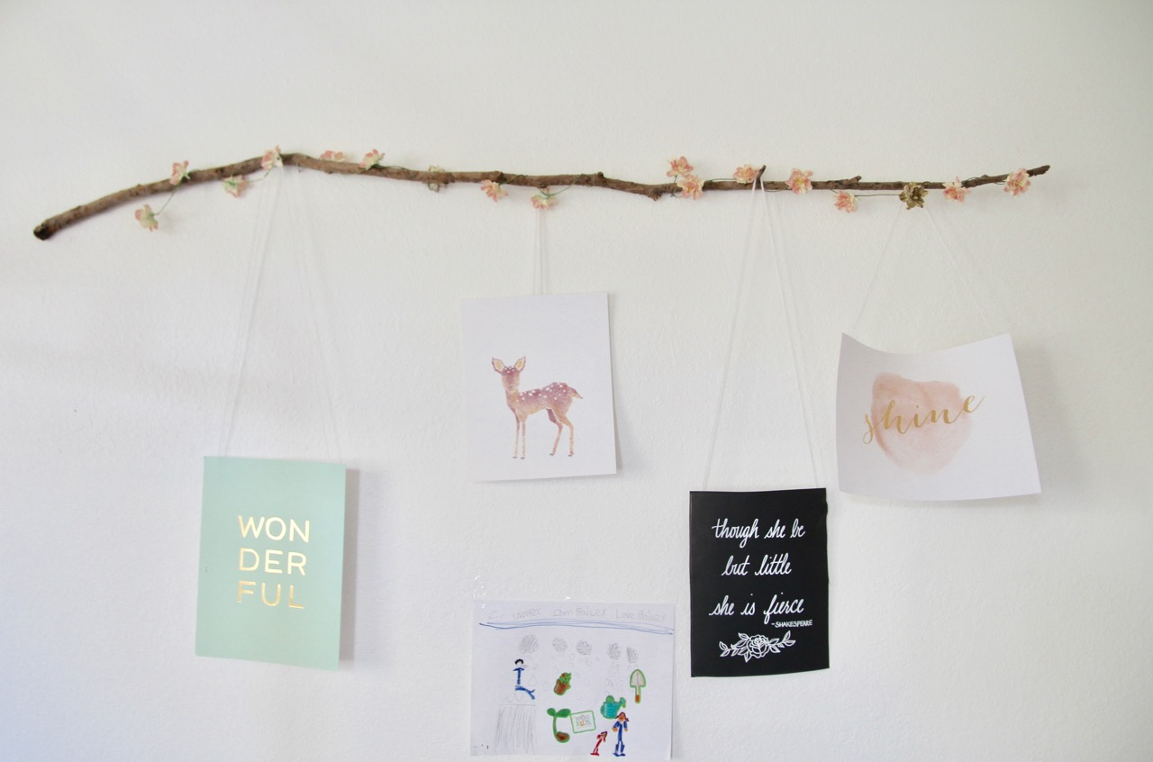 unique ideas for hanging kid's artwork