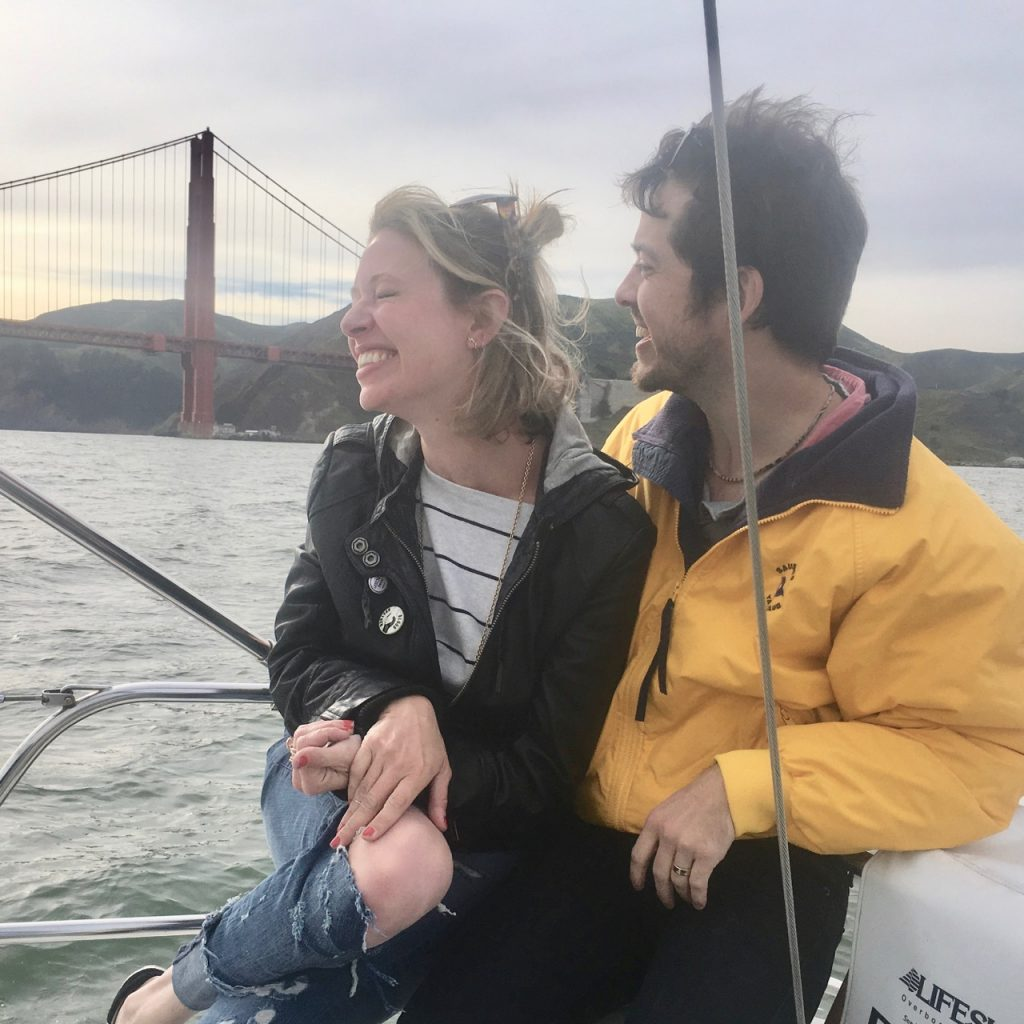 San Francisco bay harbor boat trip for couples