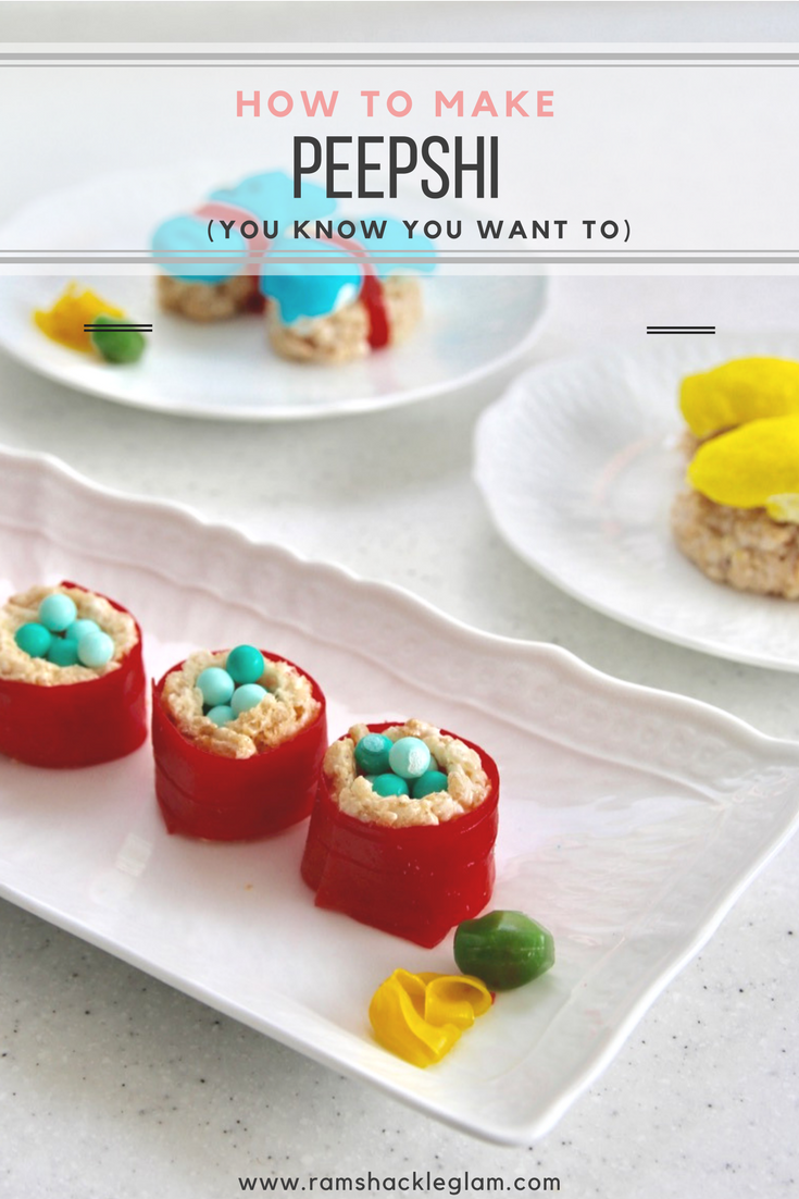How To Make ADORABLE Peepshi (Peep Sushi) With Rice ...