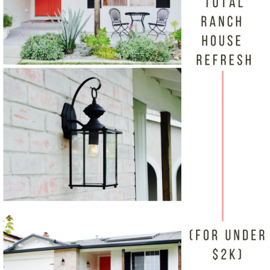 ideas for how to make a boring ranch house feel modern
