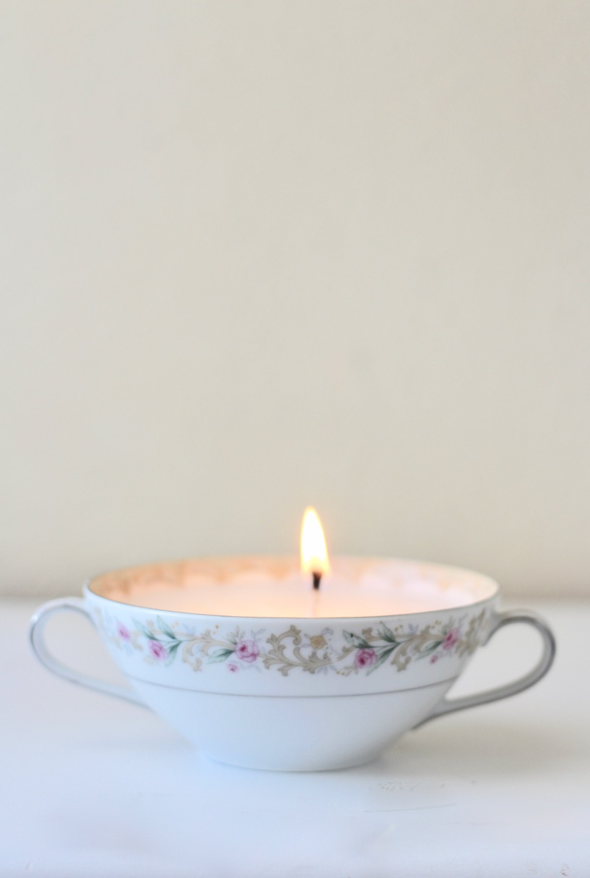 How To Make Your Old Teacups Into Candles