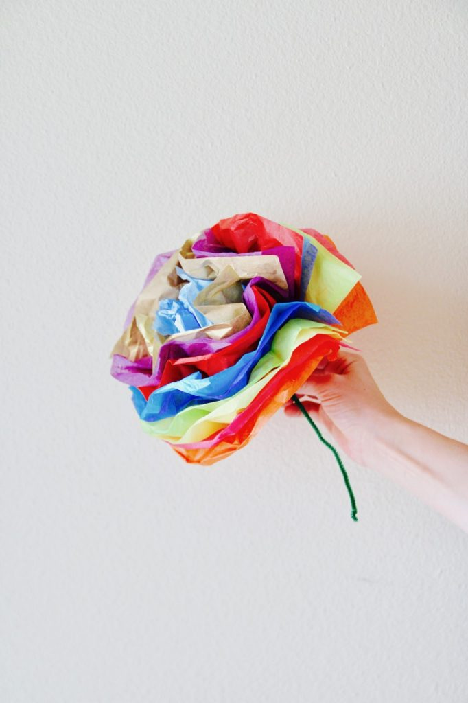 how to make cinco de mayo tissue paper flowers