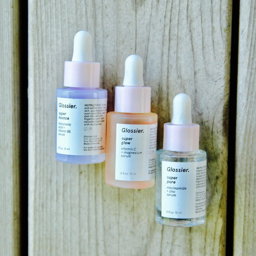 glossier serum trio on ramshackle glam