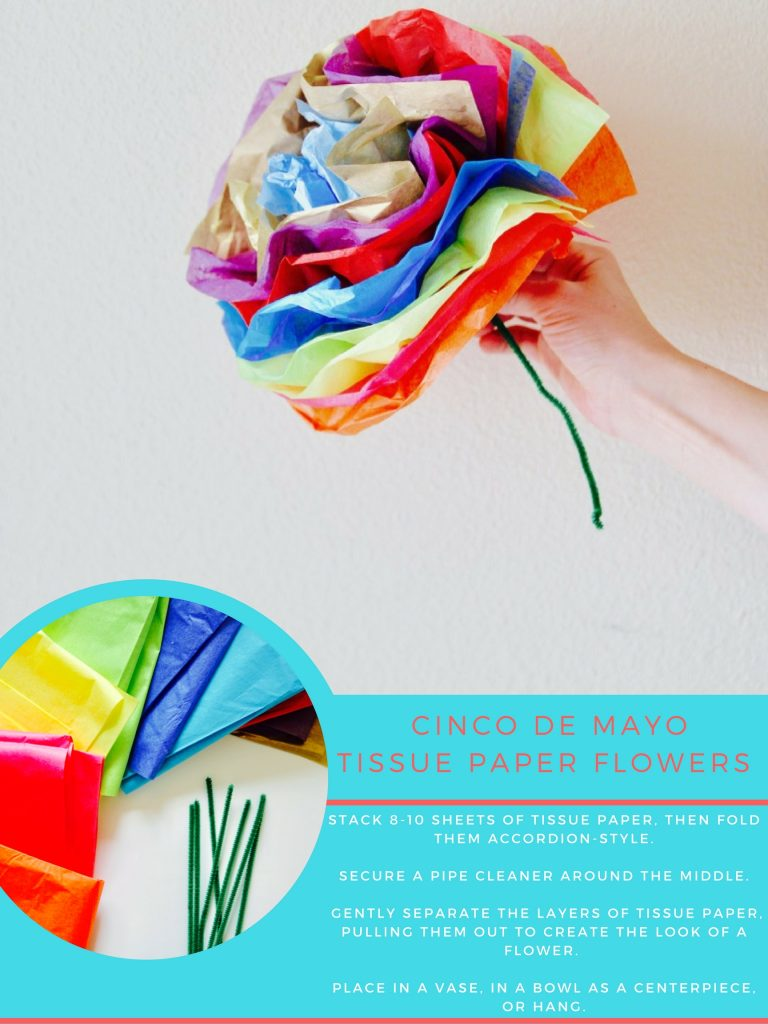 how to make tissue paper flowers for cinco de mayo