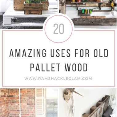 20 cool ways to use upcycled pallet wood