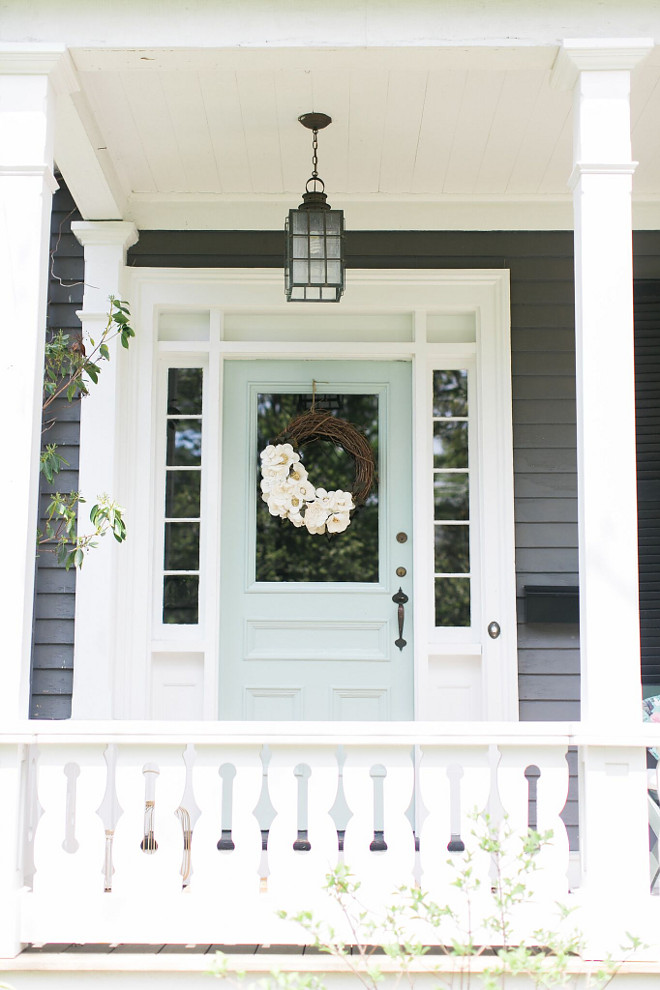 Aqua Blue Front Door Paint Color Benjamin Moore Catalina Blue. Turquoise  Door. I Painted Our Front Door Benjamin Moore Catalina Blue  ...