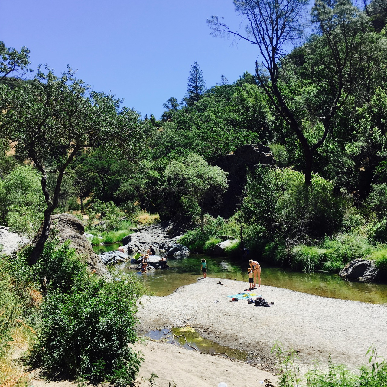 China Hole swimming in Morgan Hill, California