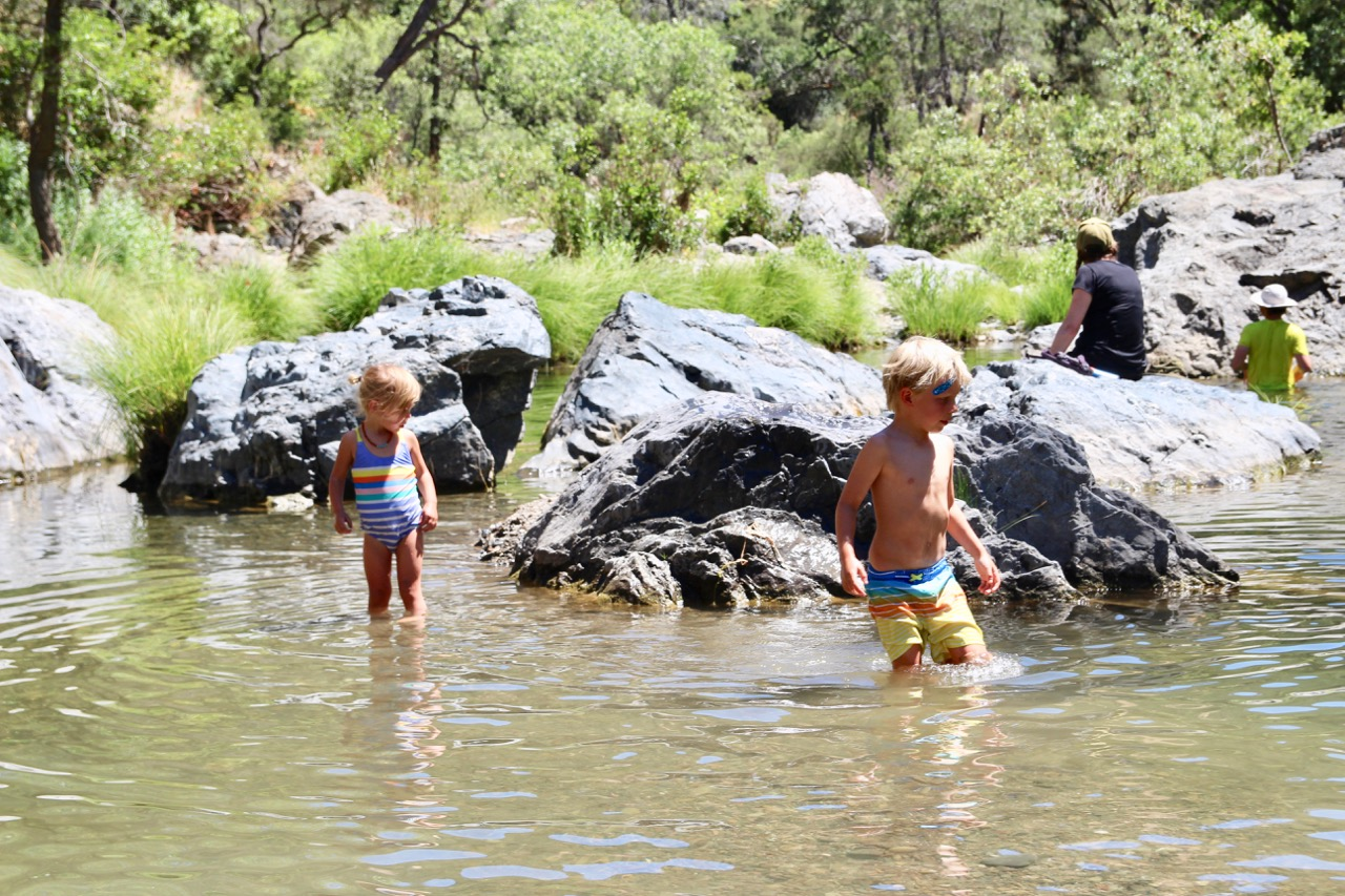 swimming hole while camping in Morgan hill California