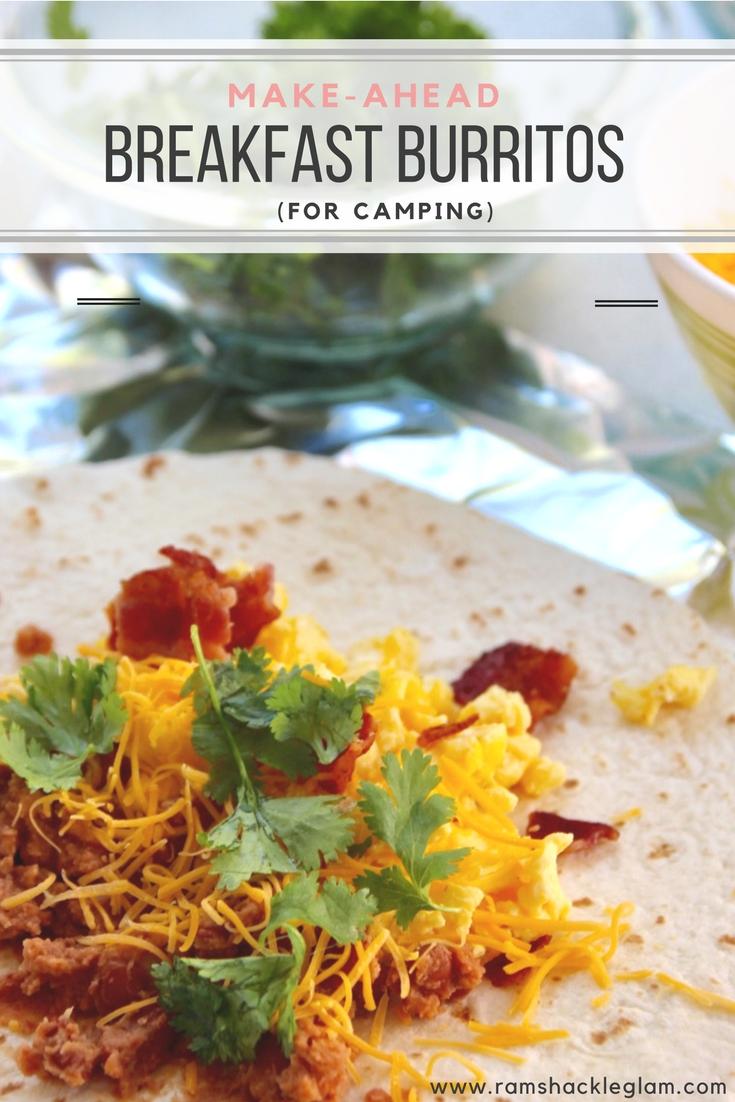 make-ahead breakfast burritos for camping