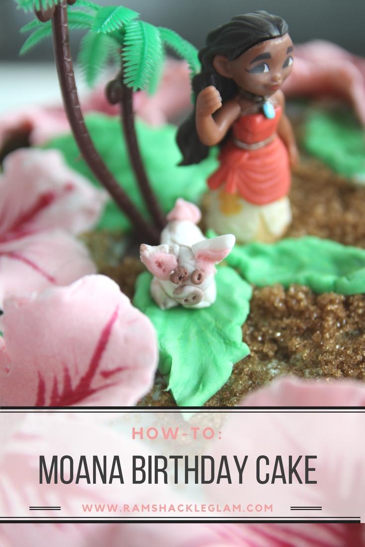 how to make a moana theme birthday cake