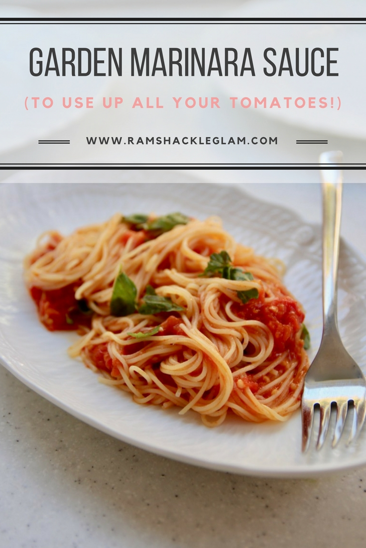 How to make marinara sauce using tomatoes from your garden