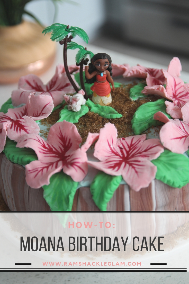 How to make a moana themed fondant birthday cake