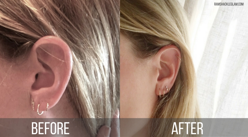 double helix high lobe piercing from body electric tattoo