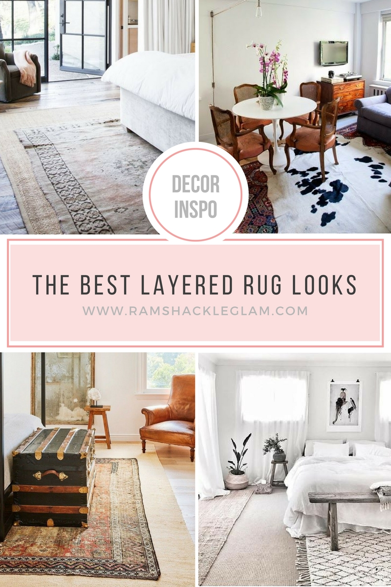 how to layer rugs in your living room or bedroom