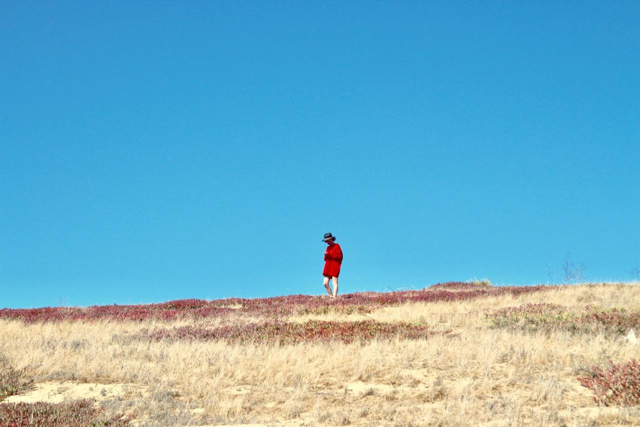oversize red wool sweater dress from Zara