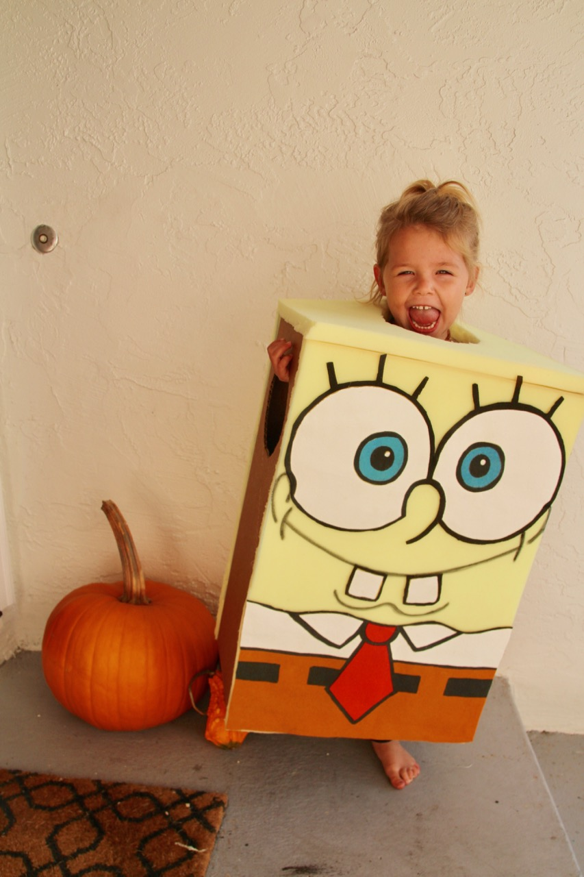 how to make a homemade spongebob squarepants halloween costume