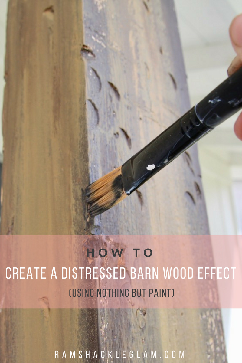 how to create a faux distressed wood effect with paint