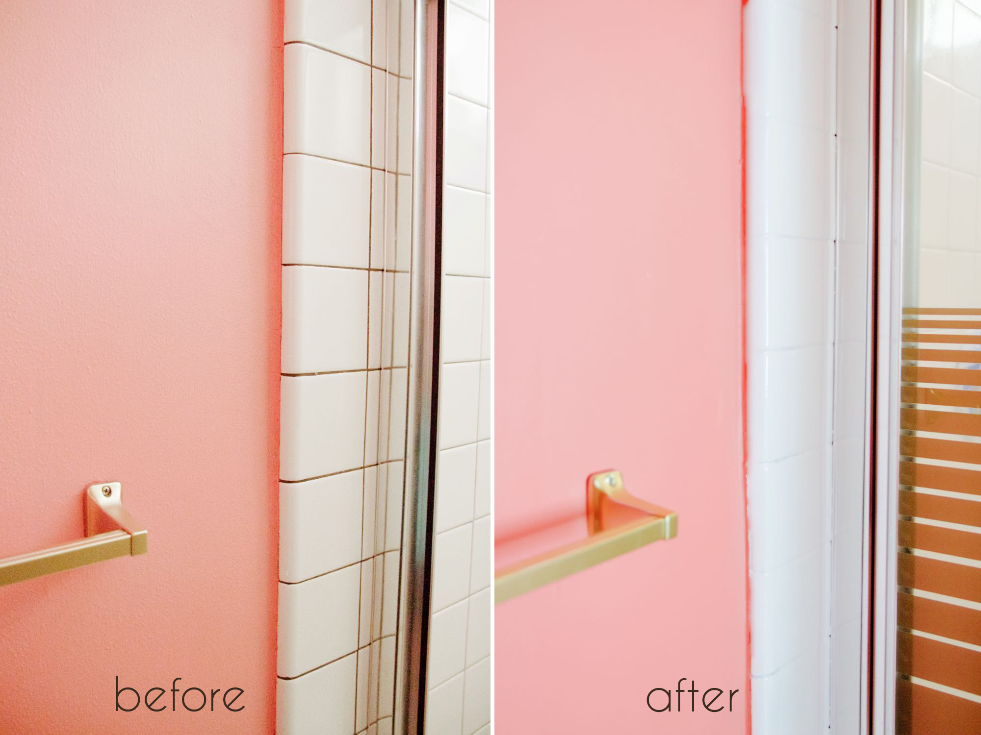 10 home renovation projects you have to try ramshackle glam for Painting bathroom tile before and after