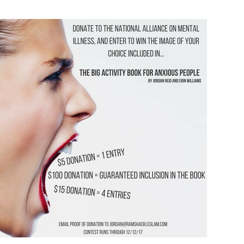 support the national alliance on mental illness and the big activity book for anxious people