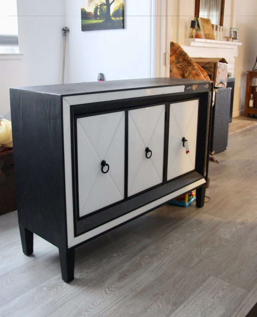 how to rehab a cabinet that's missing tiles
