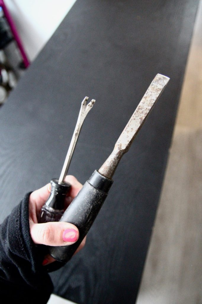 chiseling tools for removing old tile