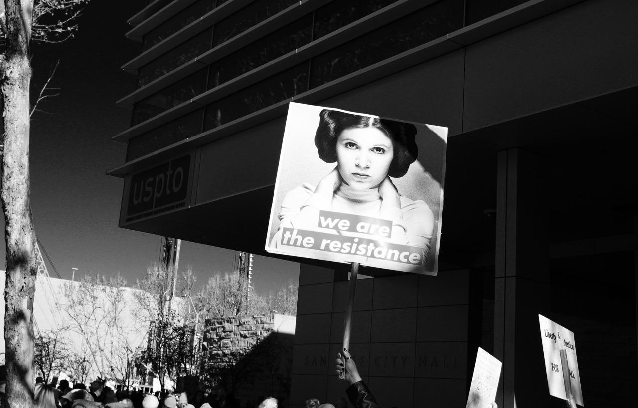 2018 women's march in San Jose California