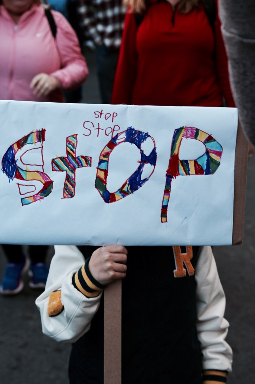 kids sign at 2018 women's march