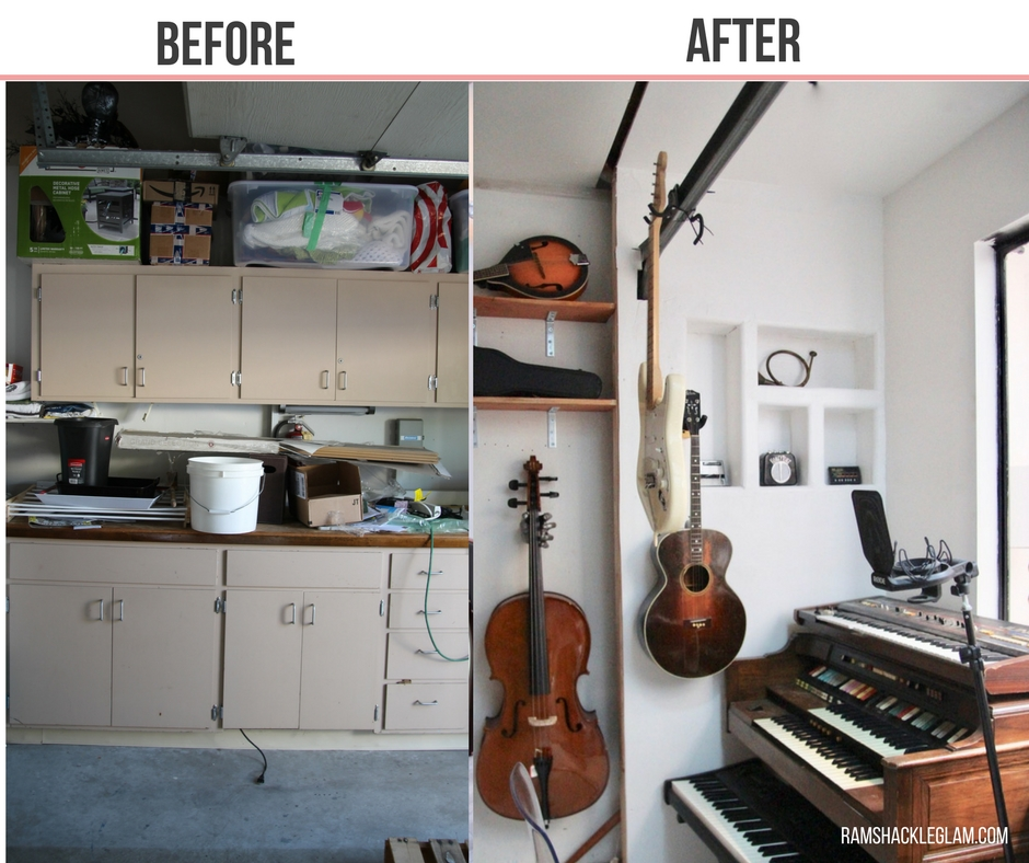 how to transform a garage into a beautiful rec room and studio