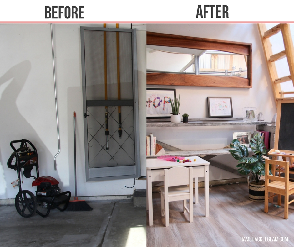 how to create a kid's art space in your garage