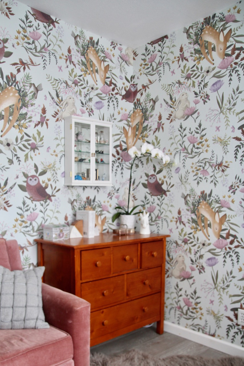 Anewall 39 s oh deer mural wallpaper is like a secret garden for Deer mural wallpaper