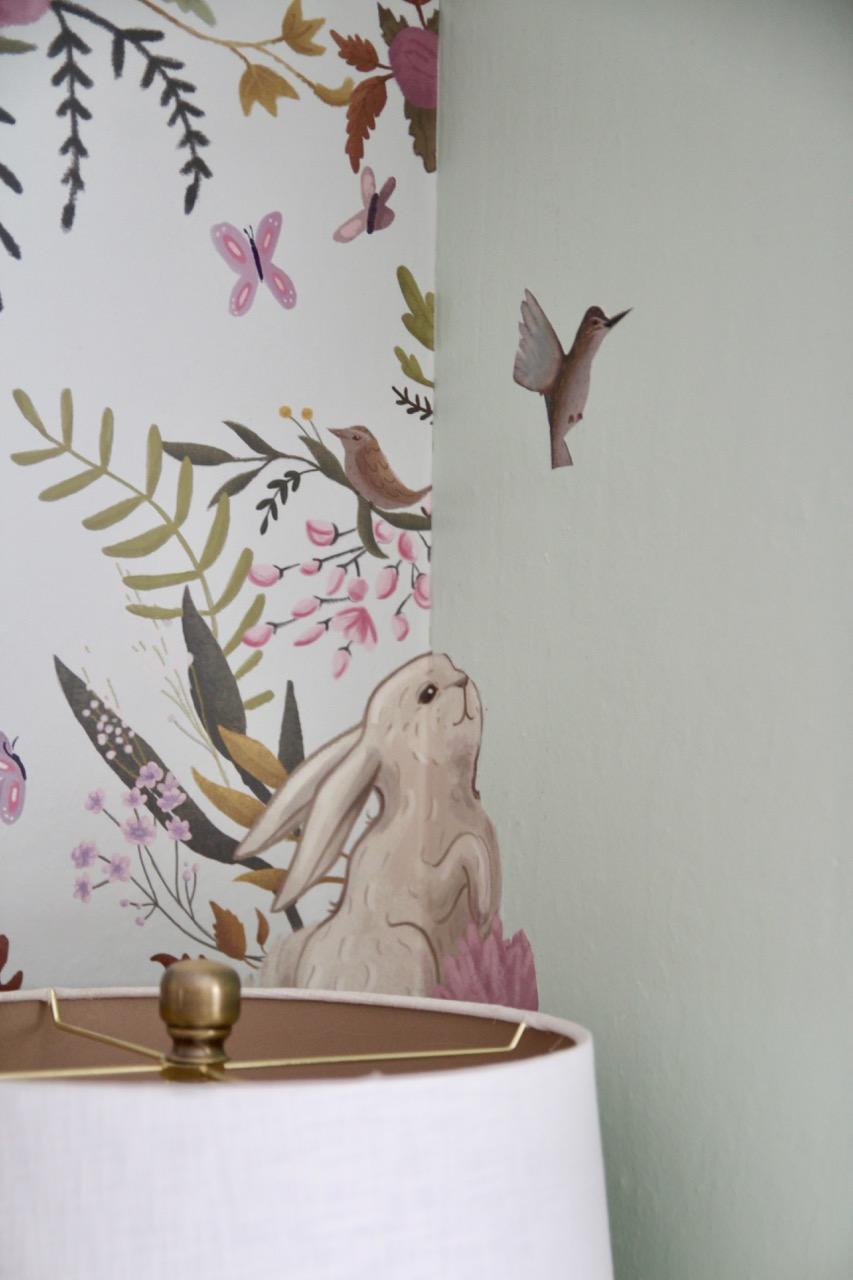 anewall oh deer bunny owl baby deer wallpaper from Lulu Georgia