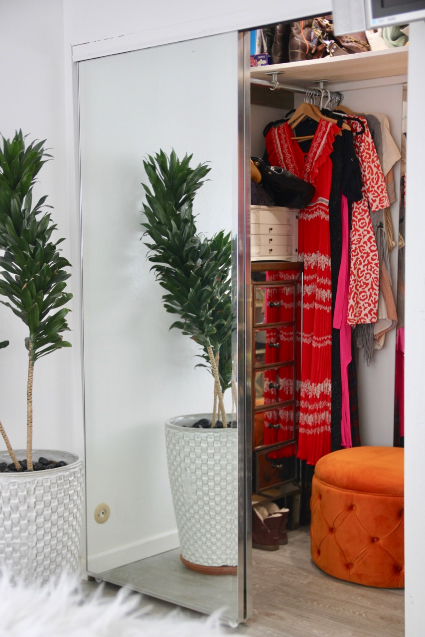 how to make your closet into a walk-in closet