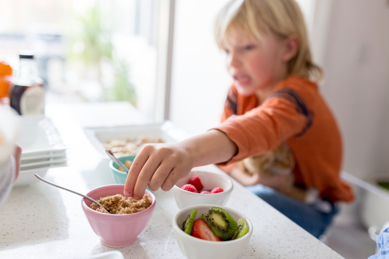 how to set up a breakfast oatmeal bar for kids