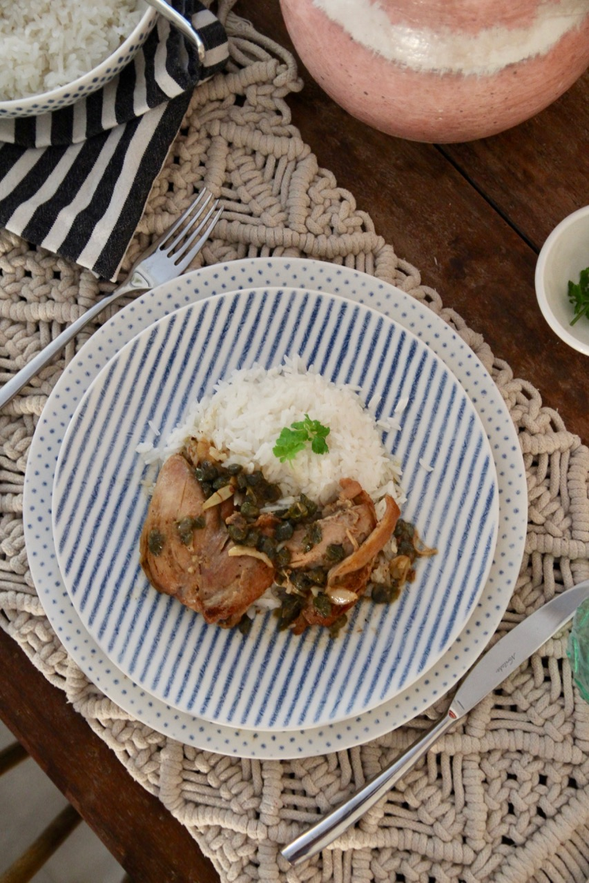 garlicky chicken with lemon anchovy and caper sauce