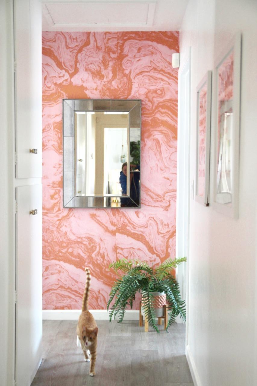 sarah sherman Samuel pink marble wallpaper mural
