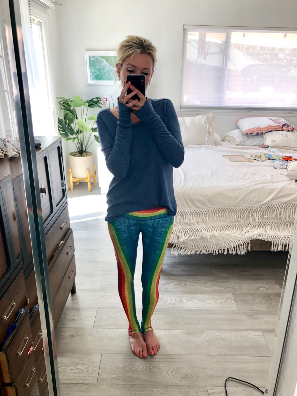 niyama sol rainbow stripe leggings