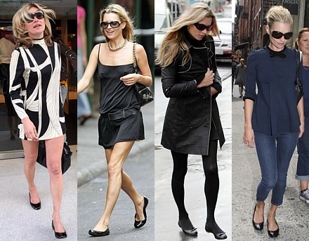 French sole ballet flats kate moss