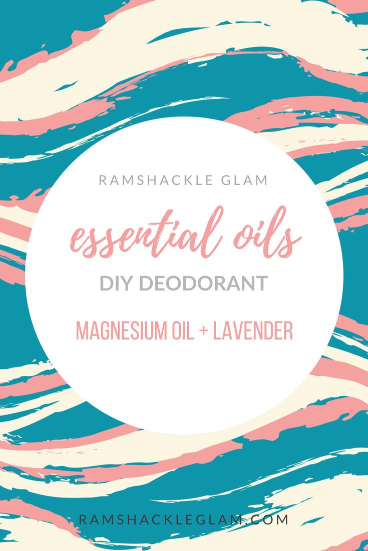diy deodorant with magnesium oil and lavender