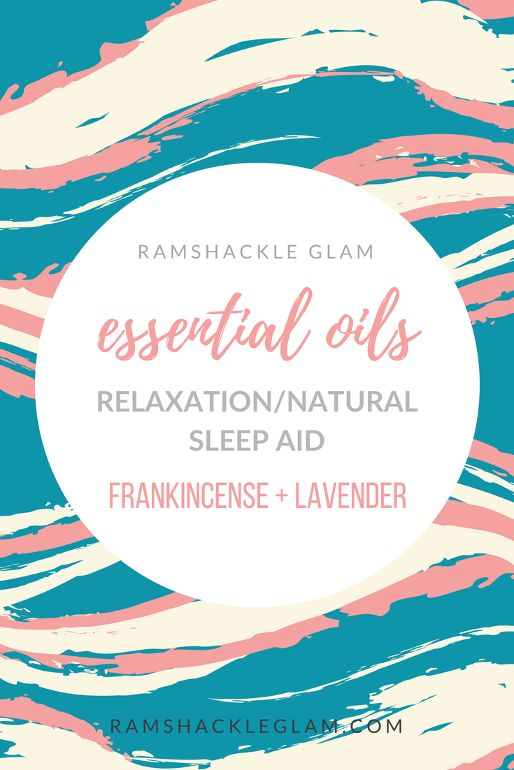 diy sleep aid with frankincense and lavender oil