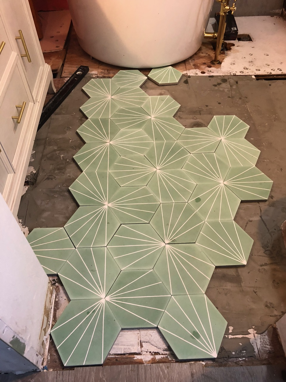 how to install encaustic cement tile