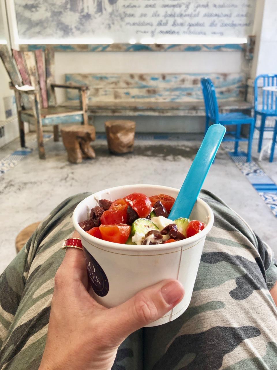 go greek yogurt greek salad olives