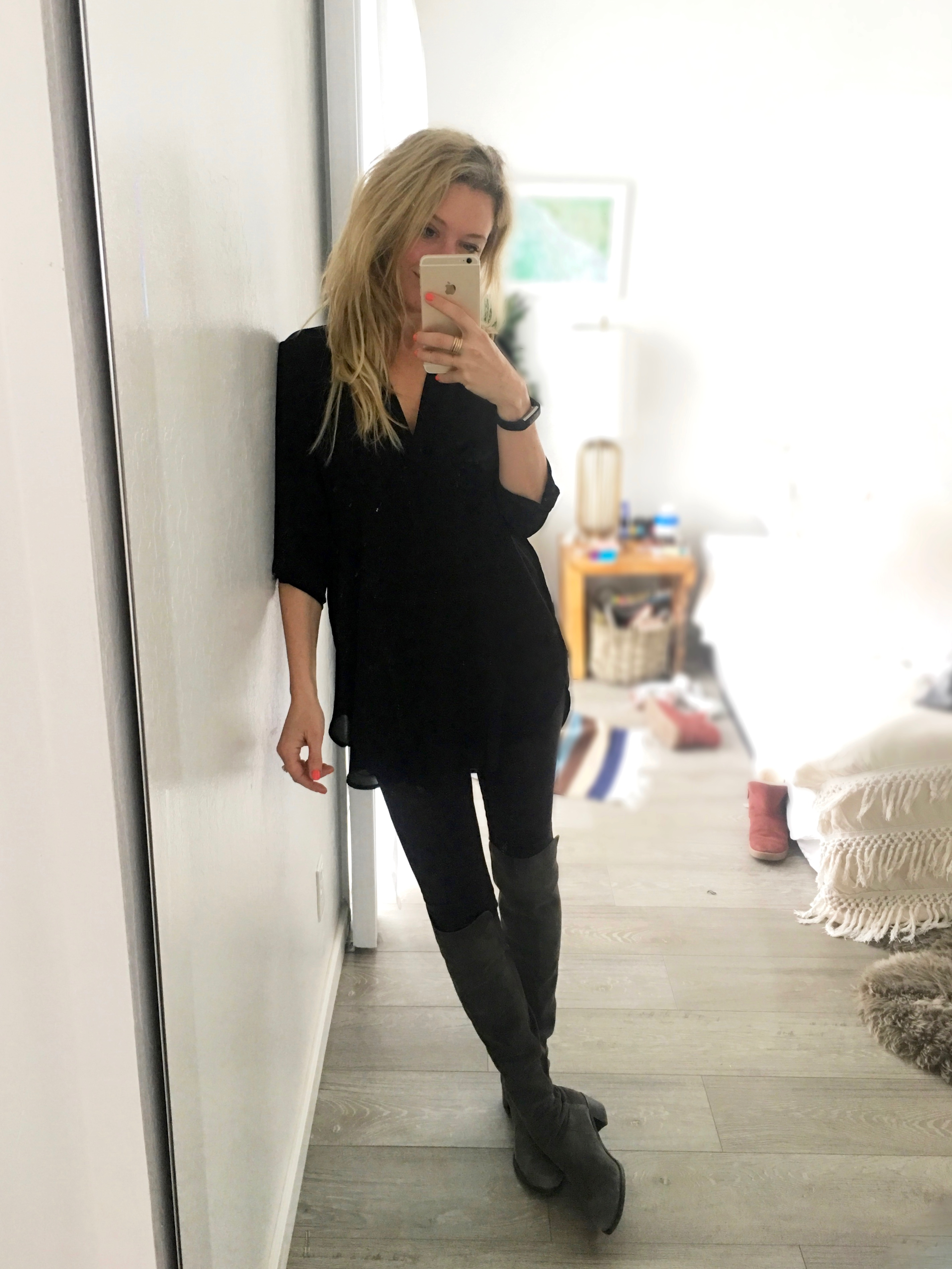 the best lightweight black blouse