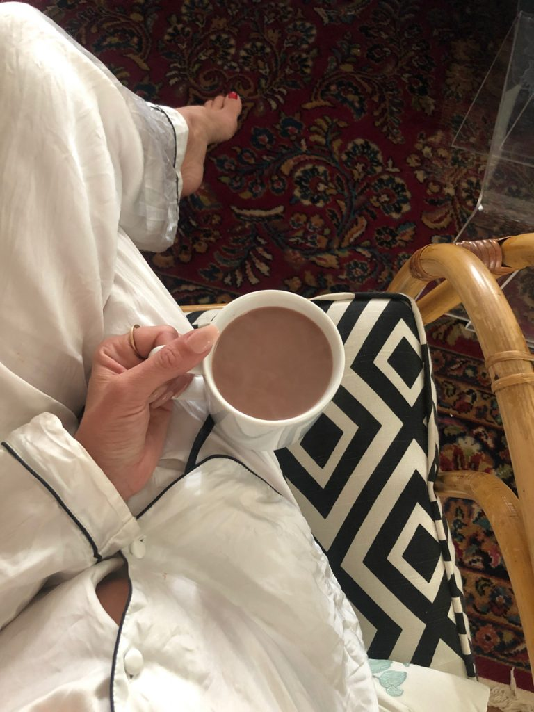 cacao powder honey and boiling water coffee substitute