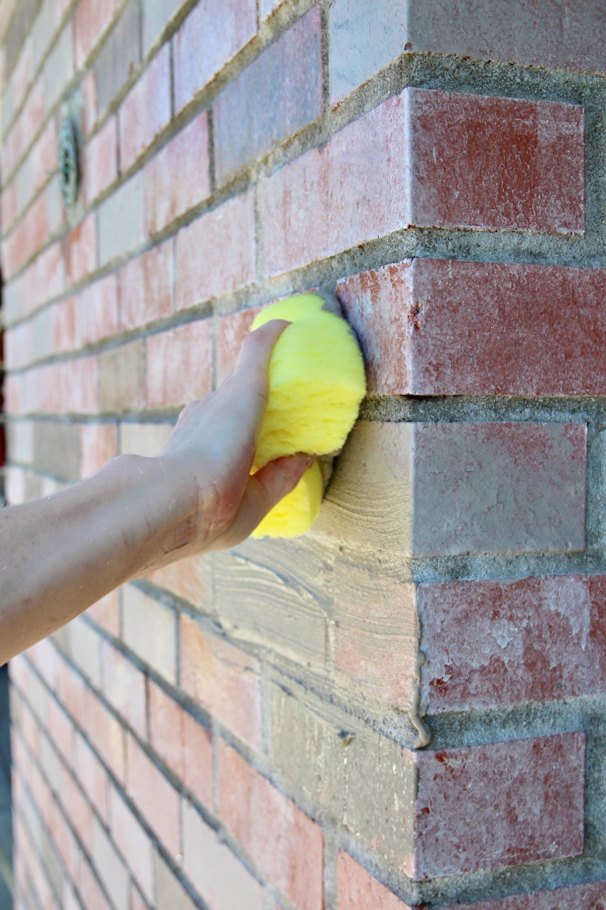 how to do a German smear or mortar wash on brick