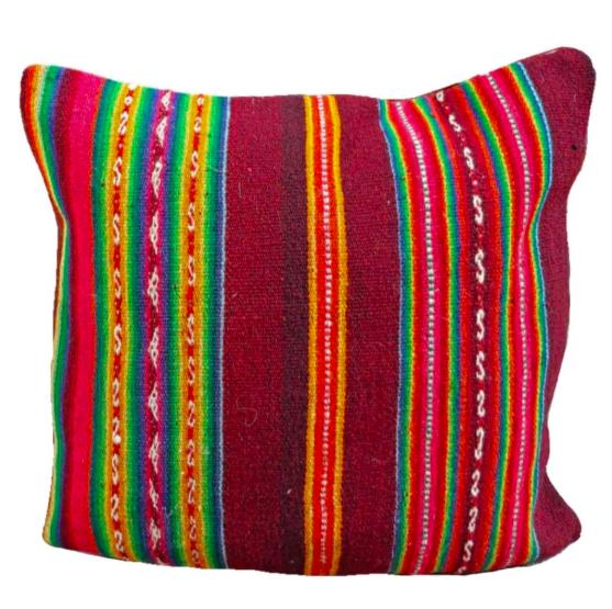 Peruvian vintage frazada pillow