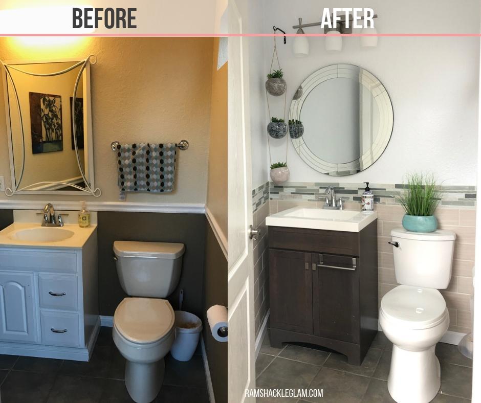 bathroom renovation for under 1k