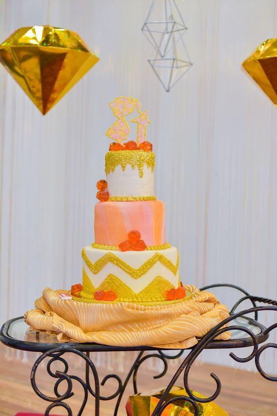gems and jewels theme birthday cake
