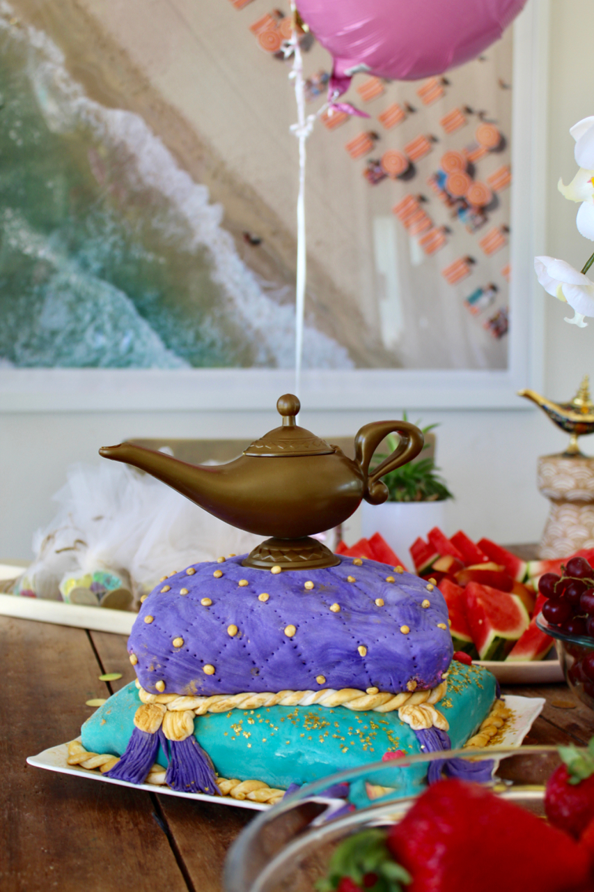 Aladdin cave of wonders genie birthday cake