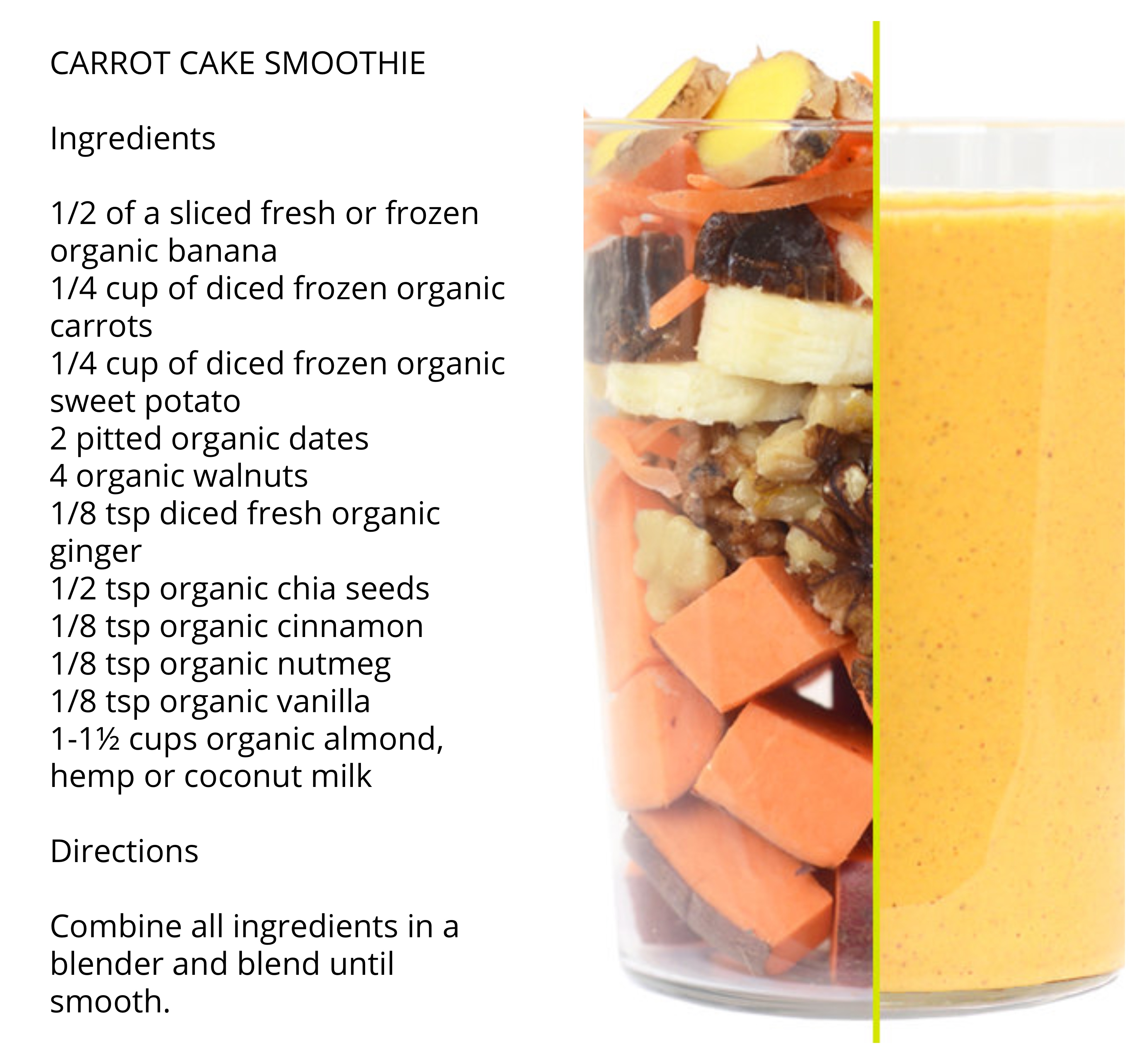 daily harvest carrot cake smoothie recipe